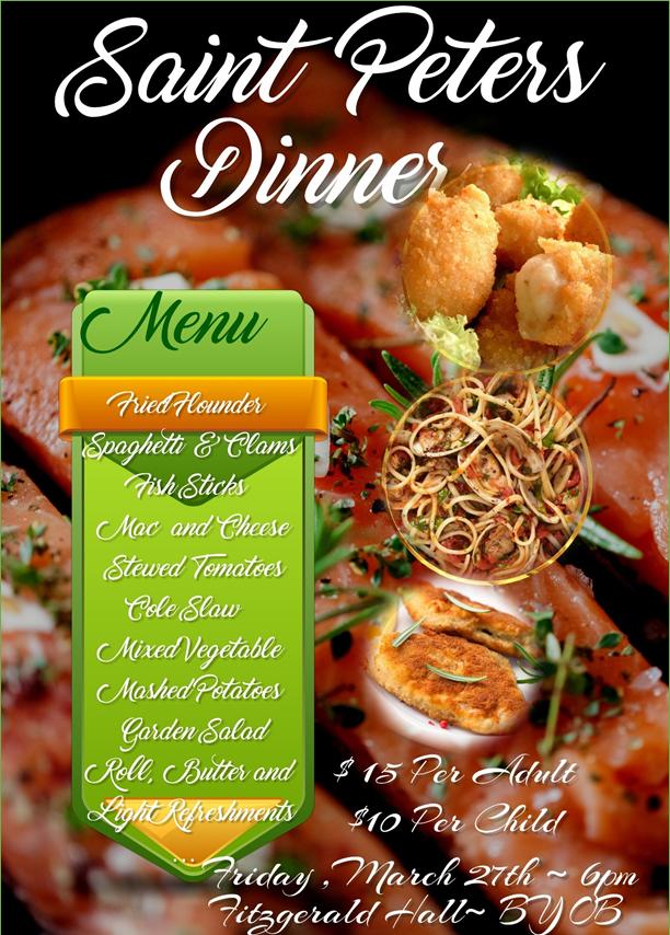 St Peter Dinner